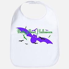 Batty About Halloween Bib