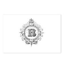 modern vintage monogram letter R Postcards (Packag