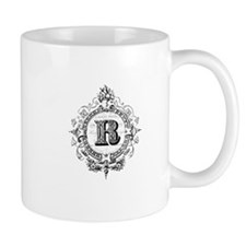 modern vintage monogram letter R Mugs
