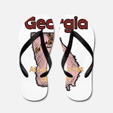 Georgia - Funny Saying Flip Flops