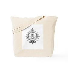 modern vintage monogram letter S Tote Bag