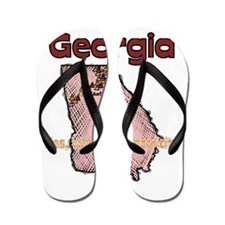 Georgia - Funny Motto Flip Flops