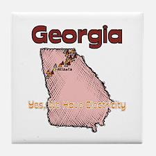 Georgia - Funny Motto Tile Coaster