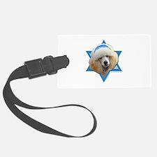 Hanukkah Star of David - Poodle Luggage Tag