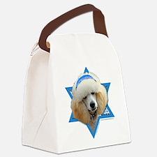 Hanukkah Star of David - Poodle Canvas Lunch Bag