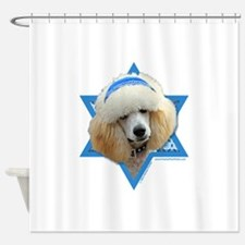 Hanukkah Star of David - Poodle Shower Curtain