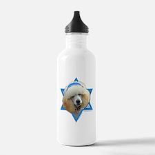 Hanukkah Star of David - Poodle Water Bottle