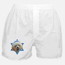 Hanukkah Star of David - Poodle Boxer Shorts