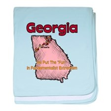 Georgia Funny Quote baby blanket