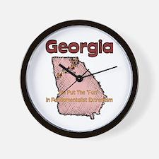 Georgia Funny Quote Wall Clock