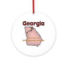 Georgia Funny Quote Ornament (Round)