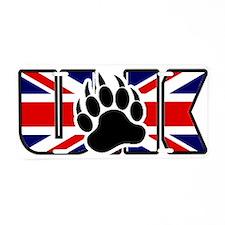 Bear Paw On U.K flag Aluminum License Plate