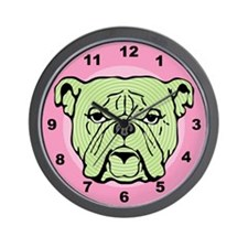 Halftone Bulldog Wall Clock
