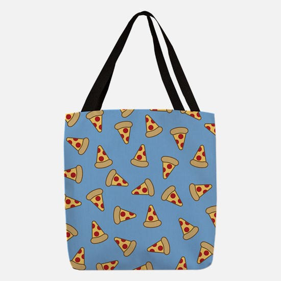 Cute Pizza Pattern Polyester Tote Bag