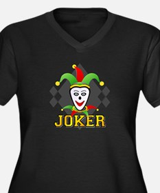 Joker (His) Women's Plus Size V-Neck Dark T-Shirt