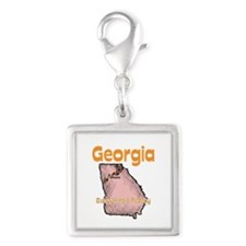 Georgia - Everything's Peachy Silver Square Charm