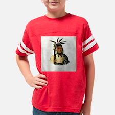 AmiskquewAMenominieWarrior184 Youth Football Shirt