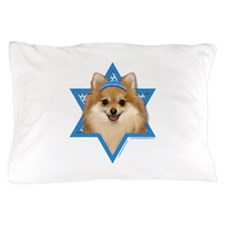 Hanukkah Star of David - Pom Pillow Case