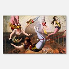 Trapeze Artists, Circus Decal