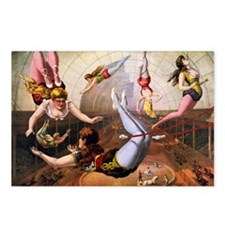 Trapeze Artists, Circus Postcards (Package of 8)
