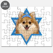 Hanukkah Star of David - Pom Puzzle