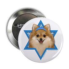 "Hanukkah Star of David - Pom 2.25"" Button"