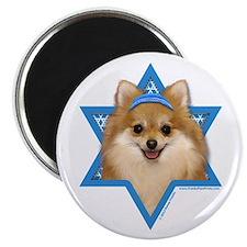 "Hanukkah Star of David - Pom 2.25"" Magnet (10 pack"