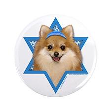 "Hanukkah Star of David - Pom 3.5"" Button (100 pack"