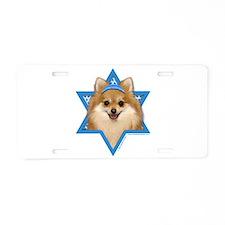 Hanukkah Star of David - Pom Aluminum License Plat