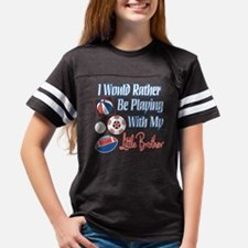 Playing With Little Brother c Youth Football Shirt