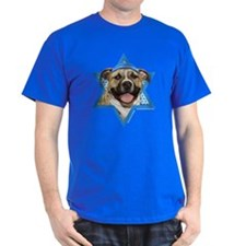 Hanukkah Star of David - Pitbull T-Shirt