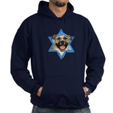 Hanukkah Star of David - Pitbull Hoodie