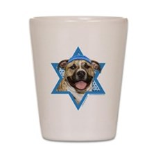 Hanukkah Star of David - Pitbull Shot Glass