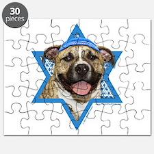 Hanukkah Star of David - Pitbull Puzzle