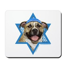 Hanukkah Star of David - Pitbull Mousepad