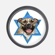 Hanukkah Star of David - Pitbull Wall Clock