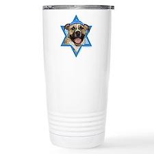 Hanukkah Star of David - Pitbull Travel Mug