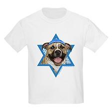 Hanukkah Star of David - Pitbull T-Shirt