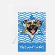 Hanukkah Star of David - Pitbull Greeting Card