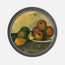 Still Life with Apples by Cezanne Wall Clock
