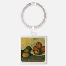 Still Life with Apples by Cezanne Square Keychain