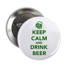 "Keep calm and drink beer St. Patricks day 2.25"" Bu"