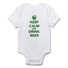 Keep calm and drink beer St. Patricks day Infant B