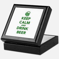 Keep calm and drink beer St. Patricks day Keepsake