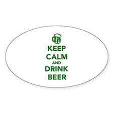 Keep calm and drink beer St. Patricks day Decal