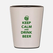 Keep calm and drink beer St. Patricks day Shot Gla