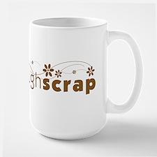 Live Love Laugh Scrap - Large Mug