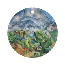 Cezanne Mont Sainte Victoire Round Ornament