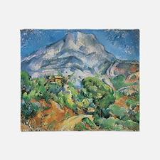 Cezanne Mont Sainte Victoire Throw Blanket