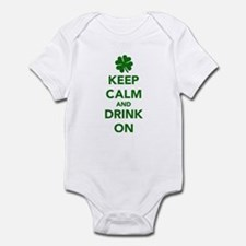 Keep calm and drink on St. Patricks day Infant Bod